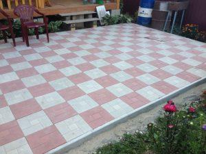 Мощение дорожек из тротуарной плитки 4